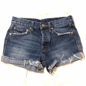 BDG | TomGirl Midrise Button Fly Distressed Shorts